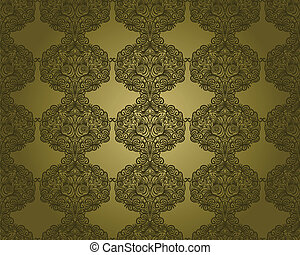 vector abstract seamless floral pattern, vintage