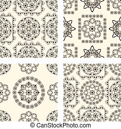 vector set of seamless vintage patterns
