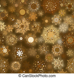 Brown abstract christmas with snowflake EPS 8 - Brown...