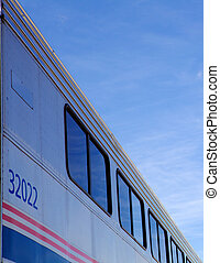 Passenger Train Abstract - Abstract view of passenger train...