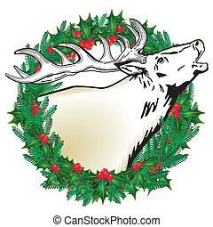 Deer in the wreath