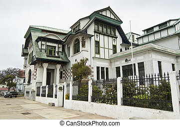 Typical mansion of Valparaiso, Chile - Valparaiso is a city...
