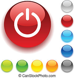 Switch button. - Switch shiny button. Vector illustration....