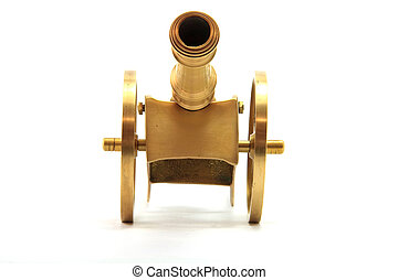 Golden Canon - Canon Isolated on White From Front...