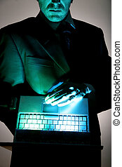 hacker - business be aware of hacking and crime