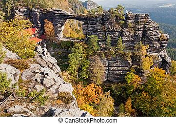 Gate - Pravcicka Brana - View of Pravcicka brana - the...