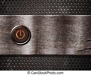rusty power button on