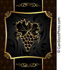 golden frame with grapevine