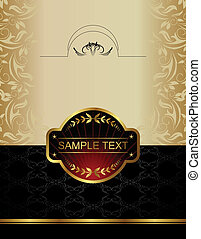 gold wine label - Illustration of gold wine label - vector