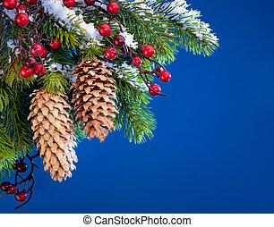 művészet, Oltalmaz, fa, karácsony, hó