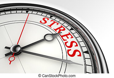 stress red word on concept clock