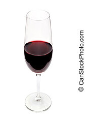 red wine in glass isolated on white background