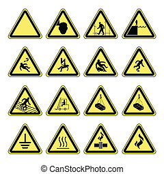 Hazard warning, health and safety - Hazard warning, health...