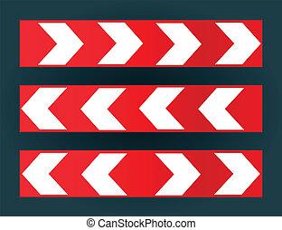 Direction arrow vector set background