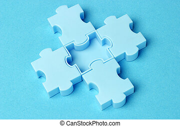 Blue jigsaw puzzles