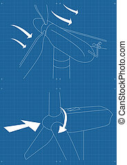 Wind generators and wind turbines set