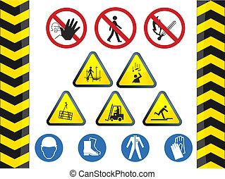 Construction hazard signs vector