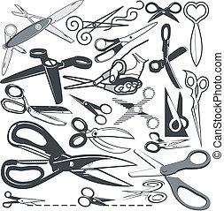 Scissor Collection - Clip art collection of various styles...