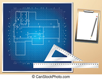 Drawing plan architectural