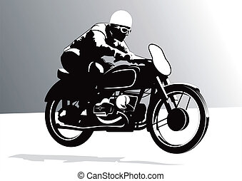 Chopper motorcycle vector for poster