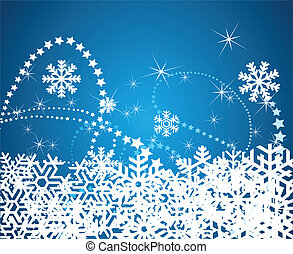 nowflakes background vector