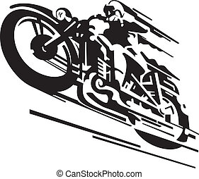 Motorcycle vector background for poster