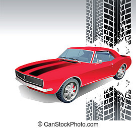 Sport car vector background for poster
