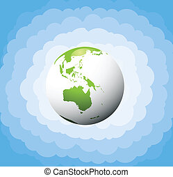 Ecology green planet vector concept