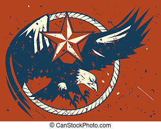 Rustic Eagle Emblem - A rustic and rusty looking eagle...