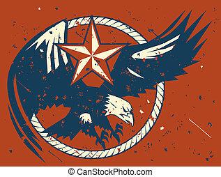 Rustic Eagle Emblem