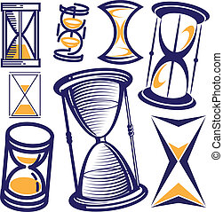 Hourglass Collection - Clip art collection of hourglass...