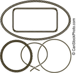 Rope - Clip art collection of various frames of rope