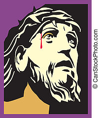 Portrait of Grace - A Jesus portrait with crown of thorns