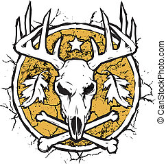 Hunter's Dry Earth Emblem - Drought stricken land with deer...