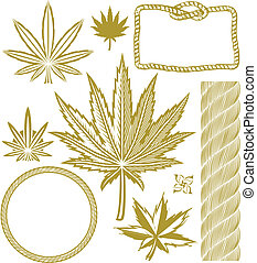 Hemp Collection - Clip art collection of hemp-related...