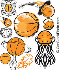 Basketball Collection - Clip art collection of basketball...