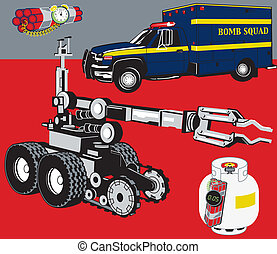 Bomb Squad - Bomb squad related clip art