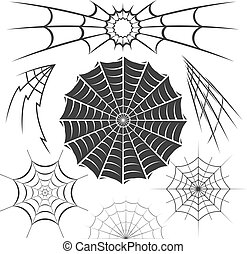 Spider Webs - Clip art collection of spider web designs