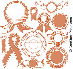 Ribbons & Seals Collection - Clip art collection of various...