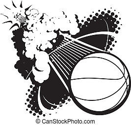Sonic Boom Basketball - A flying basketball breaking the...