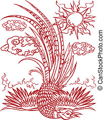 Pheasant Fall - A pheasant flew too close to the sun and...