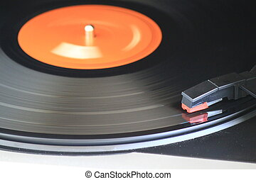 The way it was - A vinyl record being played on a dusty old...