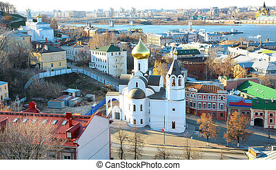 October view of Nizhny Novgorod Russia