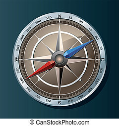 Silver compass background