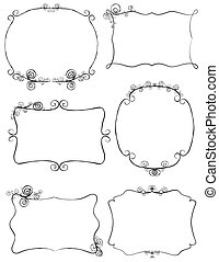 frames_lines - Hand drawn retro frames with ornaments