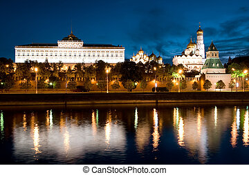 The Russian Moscow Kremlin in the morning