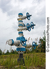 Wellhead. - Oil Well in Western Siberia. Russia.
