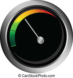 vector speedometer isolated over white background for you...