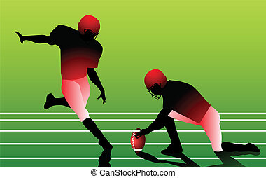 American football player vector for poster