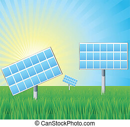 Alternative energy solar panels vector